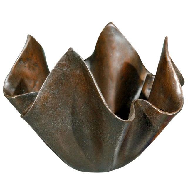 Small Bronze Handkerchief Planter For Sale