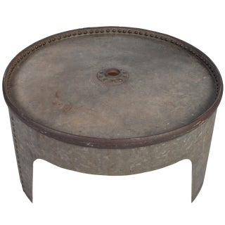 Round Industrial Coffee Table For Sale