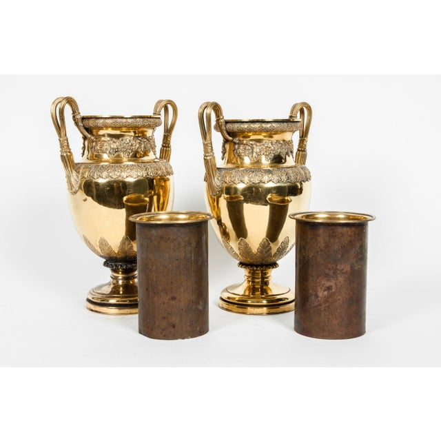 Mid 19th Century Old English Bronze Decorative Vases For Sale - Image 5 of 13