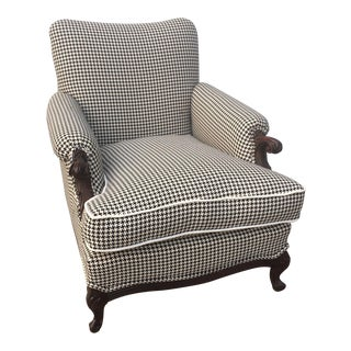 Antique Newly Upholstered Lounge Chair