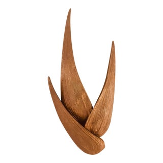 Large Chrystiane Charles Bronze Wall Light For Sale