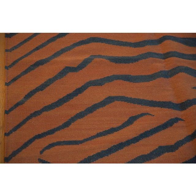 """Vintage Indian Tiger Kilim Design Carpet - 9'1"""" X 12'1"""" For Sale In New York - Image 6 of 9"""