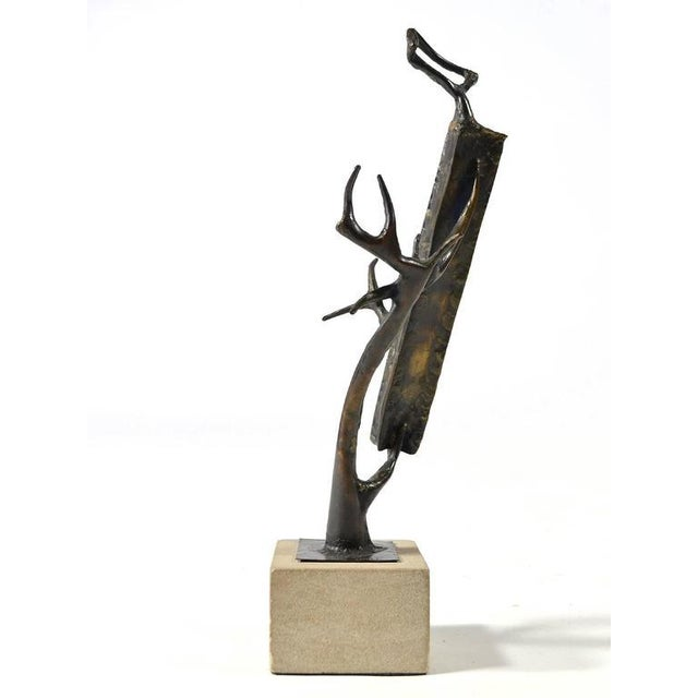 Bronze Abstract Bronze Sculpture by Clyde Ball For Sale - Image 7 of 11