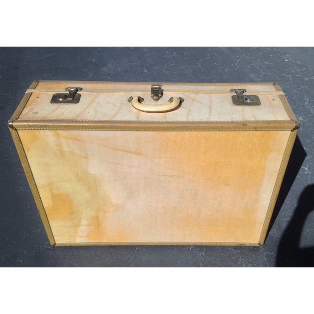 Vintage Vellum Parchment Luggage by Hartman For Sale - Image 4 of 7