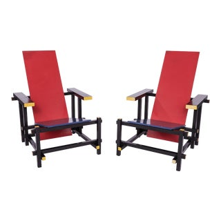 Pair of Gerrit Thomas Rietveld Arm Chairs For Sale