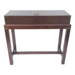Vintage Campaign Style Storage Table For Sale