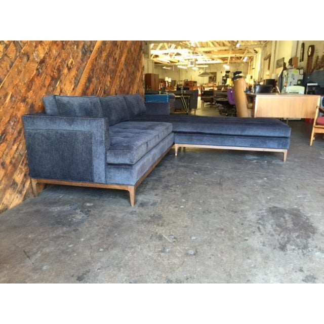 Mid-Century Style Custom Reversible Sofa Chaise Lounge For Sale In Los Angeles - Image 6 of 8