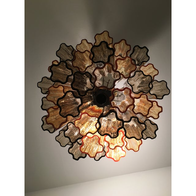 """Metal Contemporary Murano Glass """"Tronchi"""" Chandelier For Sale - Image 7 of 12"""