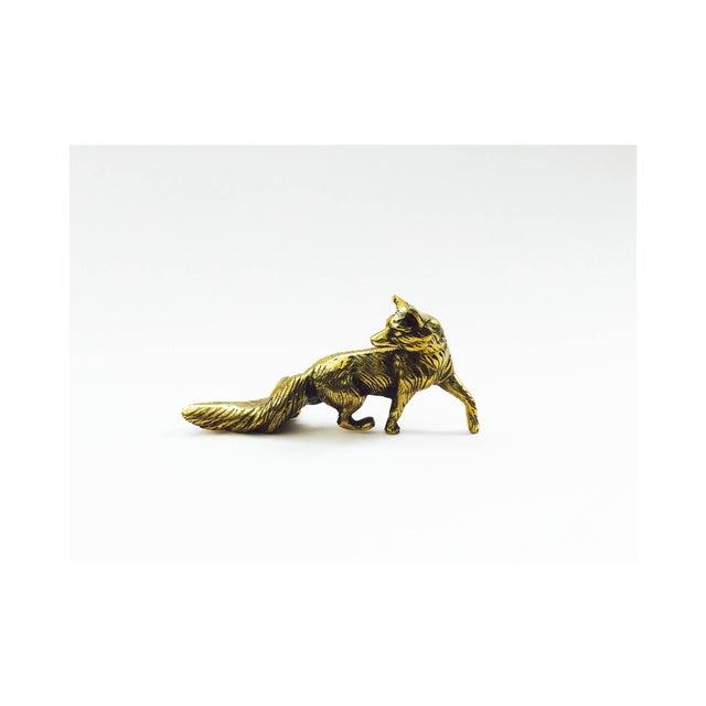 Vintage Brass Fox Statue - Image 2 of 6