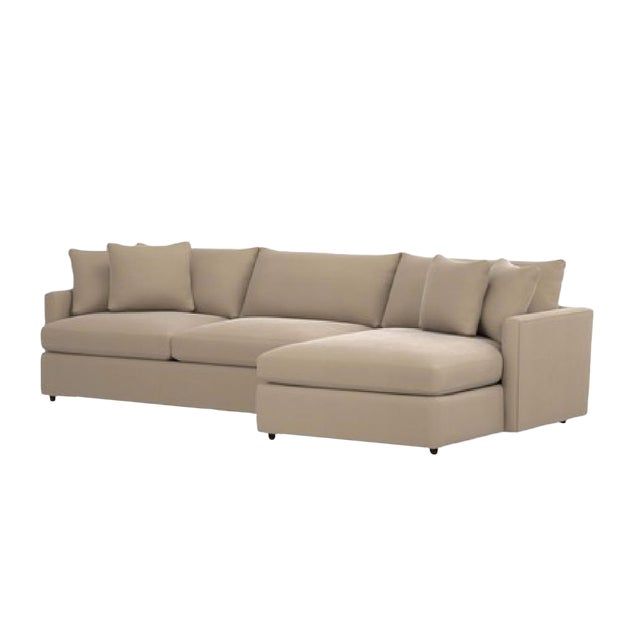 Crate & Barrel Lounge II 2 Piece Sectional Sofa For Sale