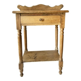 1930s Pine One Drawer Side Table For Sale