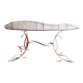 Early 20th Century French Wrought Iron Garden Table For Sale
