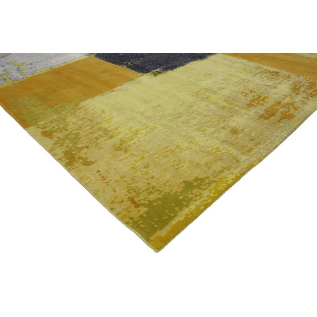 Give your home fashion-forward energy with the dynamic and dramatic look of color blocking. This Modern style rug with...