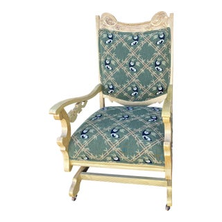 19th Century Refinished Rocking Chair For Sale