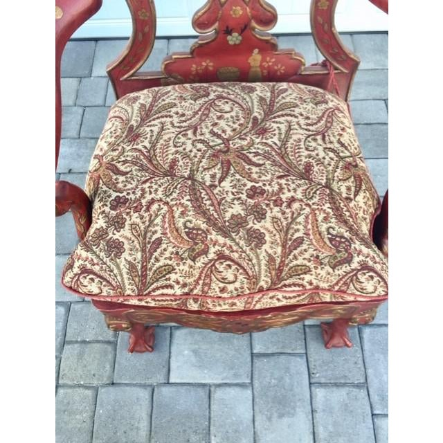 Italian 1940s Vintage Italian Renaissance Chair For Sale - Image 3 of 7