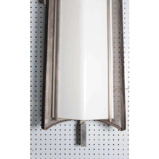 Metal Large French Mid-Century Sconces, Mathieu Matégot - a Pair For Sale - Image 7 of 13