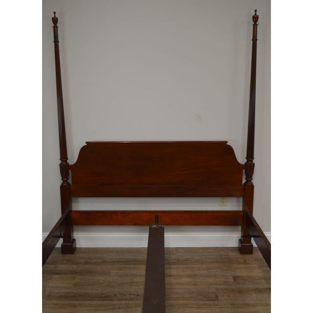 Baker Furniture Company Baker Mahogany Queen Size Chippendale Style Poster Bed For Sale - Image 4 of 13