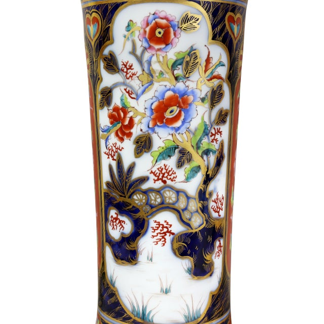 Black Pair of Victorian Imari Pattern Table Lamps For Sale - Image 8 of 11