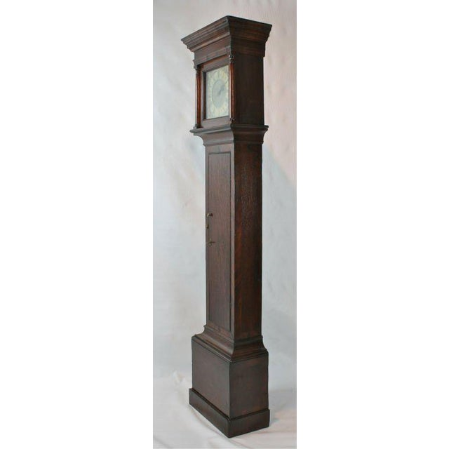 Wood English Tall Case Clock For Sale - Image 7 of 8