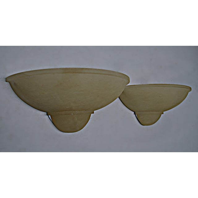 Art Deco Style Alabaster Sconces - A Pair - Image 5 of 7