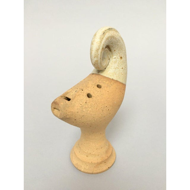 Late 20th Century Scandinavian Modern Studio Pottery Figurines - A Pair For Sale - Image 5 of 11