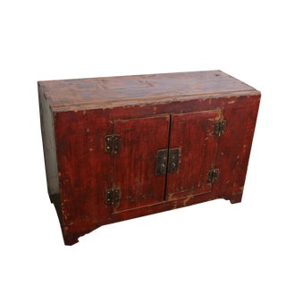 Red 19th Century Chinese Cabinet