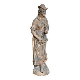 English Terra Cotta Statue For Sale