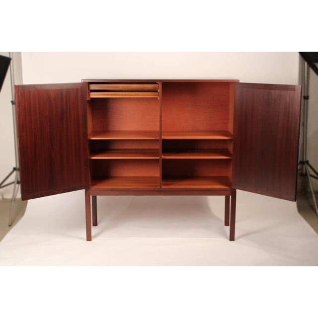 Scandinavian Modernist Mahogany Armoire Cabinet For Sale - Image 4 of 6