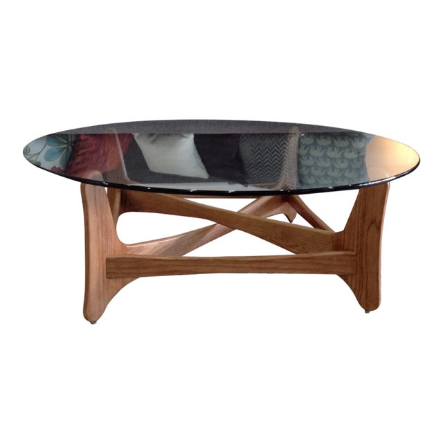 Round Glass Coffee Table - Image 1 of 5