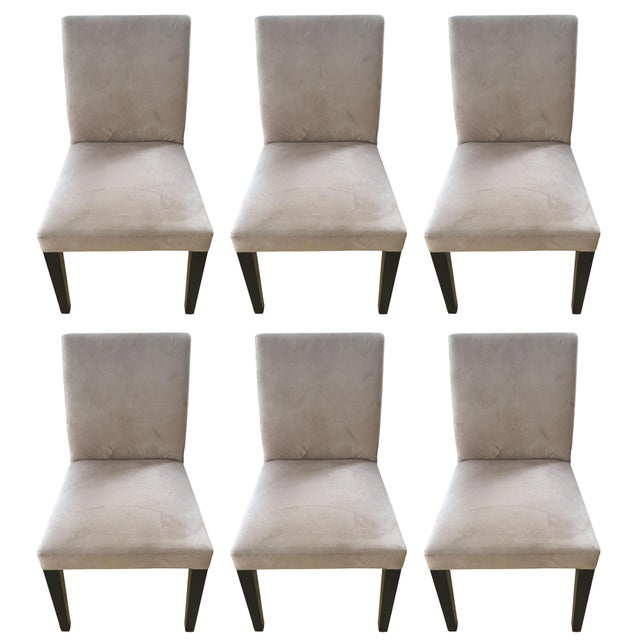 Super Crate Barrel Pullman Taupe Chairs Set Of 6 Gmtry Best Dining Table And Chair Ideas Images Gmtryco