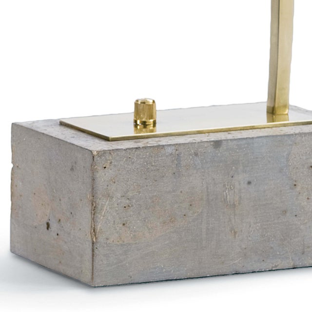 Not Yet Made - Made To Order Eureka Task Lamp in Natural Brass For Sale - Image 5 of 6