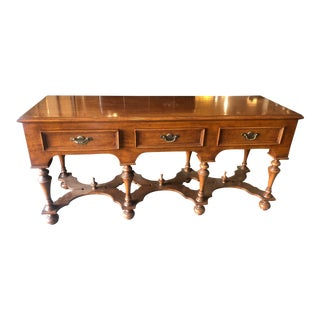 English Traditional 3-Drawer Console For Sale