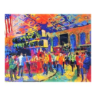 Leroy Neiman American Stock Exchange Signed Serigraph For Sale