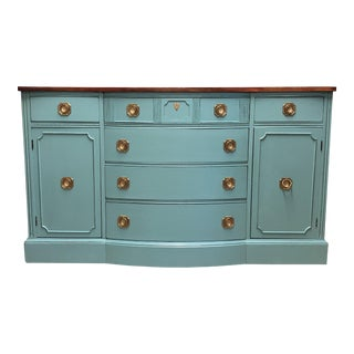Vintage Lacquered Mahogany Bow Front Buffet
