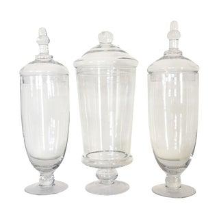 Glass Apothecary Jars - Set of 3