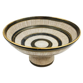 Mid Century Modern Bitossi Seta Footed Bowl For Sale