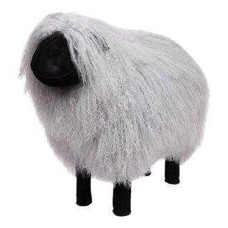 Large Tibetan Lamb Sheep in Gray For Sale