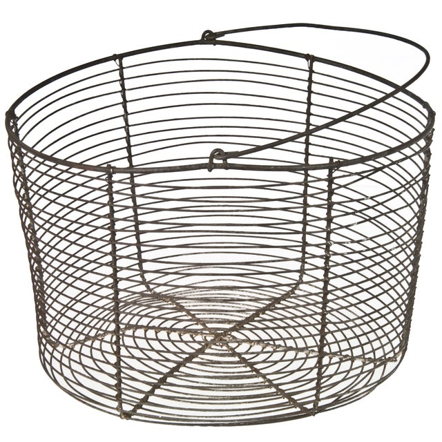 Vintage French Wire Basket - Image 2 of 3