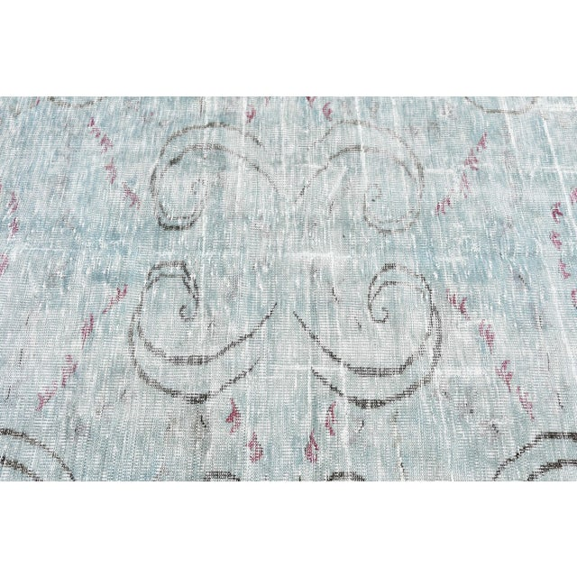 Antique Muted Handmade Boho Chic Wool Area Rug - 4′3″ × 8′2″ For Sale In San Francisco - Image 6 of 6