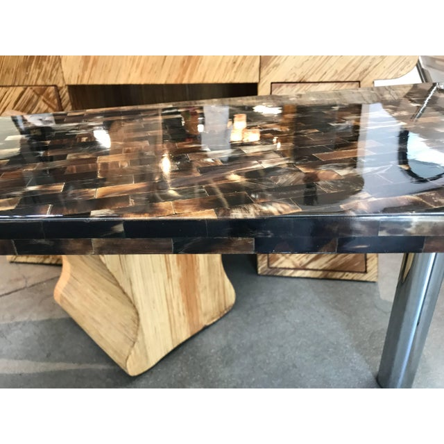 Tessellated Horn Console Table For Sale - Image 4 of 10
