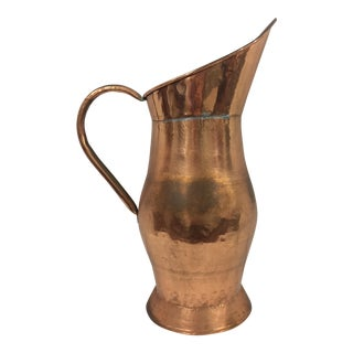 French 19th Century Copper Water Ewer