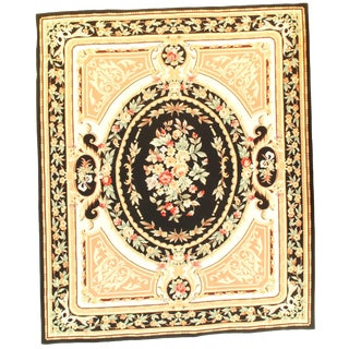 Pasargad Ny French Aubusson Design Flat Weave Rug - 8′ X 9′7″ For Sale