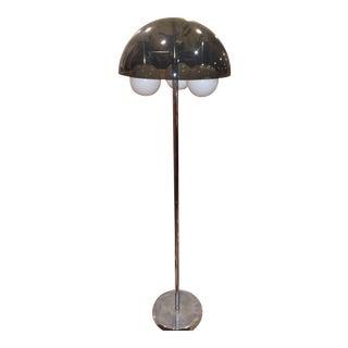 Smoked Lucite Mushroom Floor Lamp