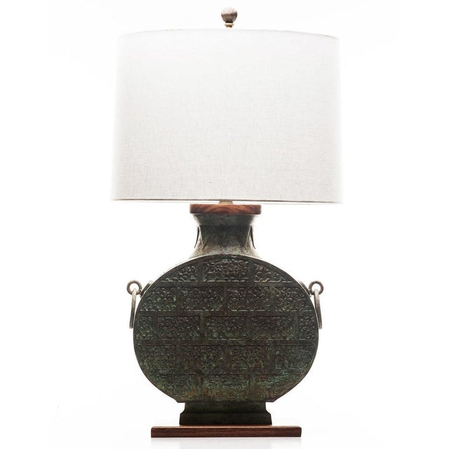 Bronze Lawrence & Scott Daria Table Lamp in Archaic Bronze For Sale - Image 8 of 8