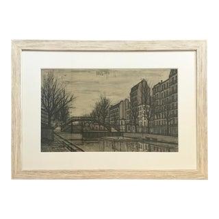 Bernard Buffet Signed Lithograph of Paris For Sale