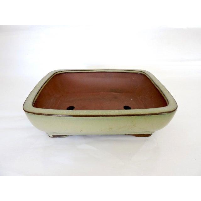 Olive Green Japanese Bonsai Planter - Image 3 of 6