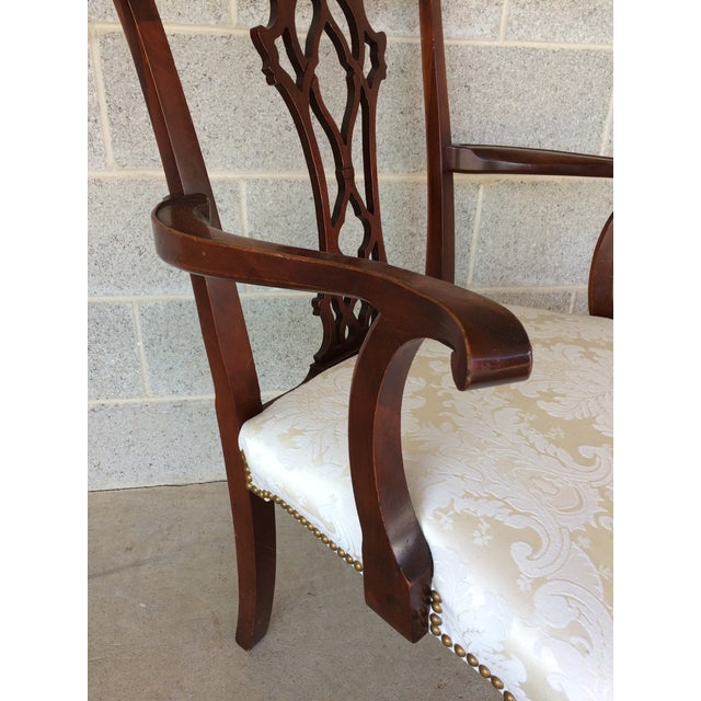 Vintage Baker Chippendale Style Ball & Claw Mahogany Dining Chairs - Set of 6 - Image 5 of 10