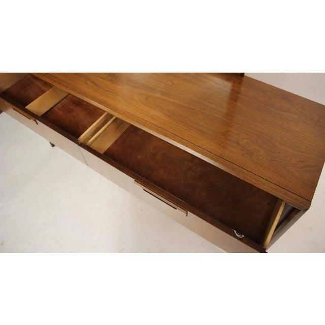 Mid-Century Modern Mid Century Walnut 6 Drawer Dresser For Sale - Image 3 of 7