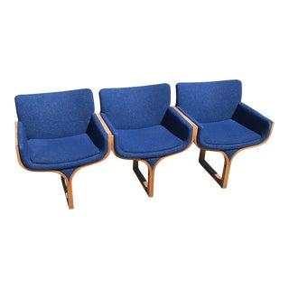Mid-Century Modern John Behringer Style Bentwood Tandem Bench For Sale