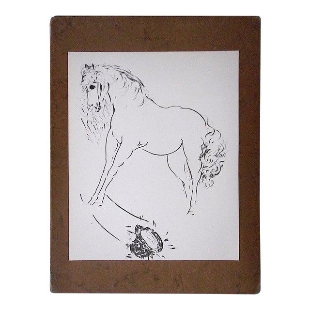 Vintage Mid 20th C. Ltd. Ed. Lithograph-Marcel Vertes c.1961 For Sale
